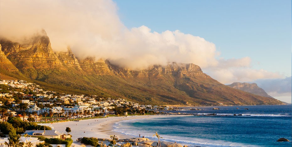 Camps Bay beach in Cape Town