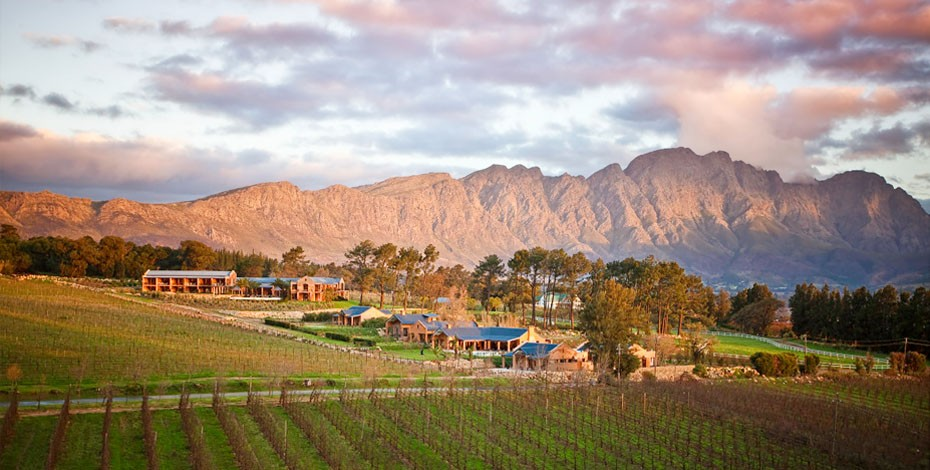 Franschhoek Valley in the Cape Winelands