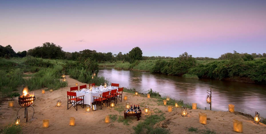 Dine under the stars at Lion Sands