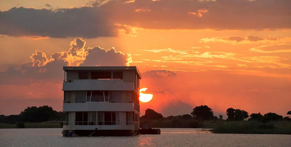 Zambezi Queen at sunset