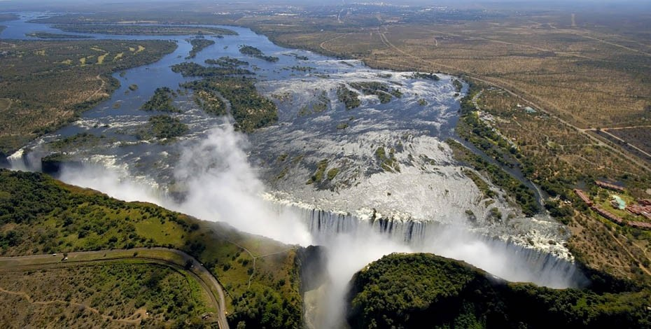 Scenic flight over Victoria Falls