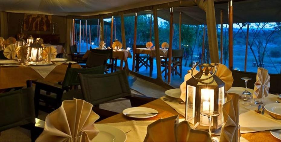 Dining at Entim Camp