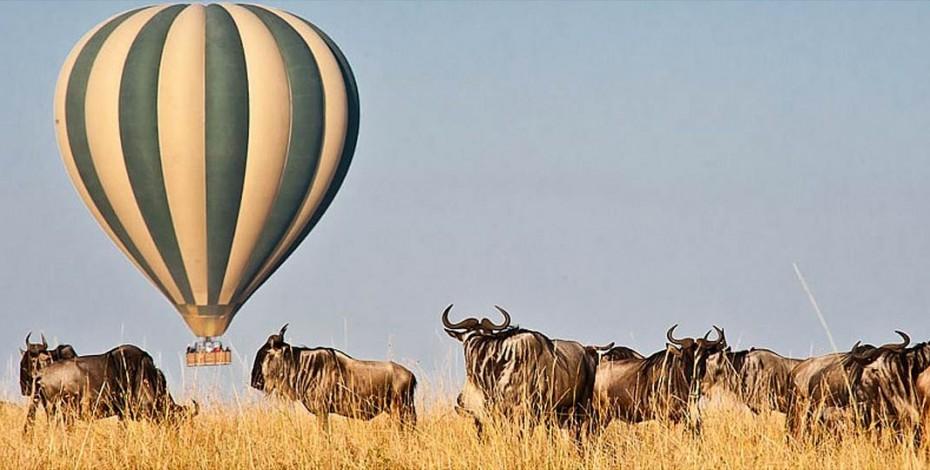 Balloon safari over the Mara