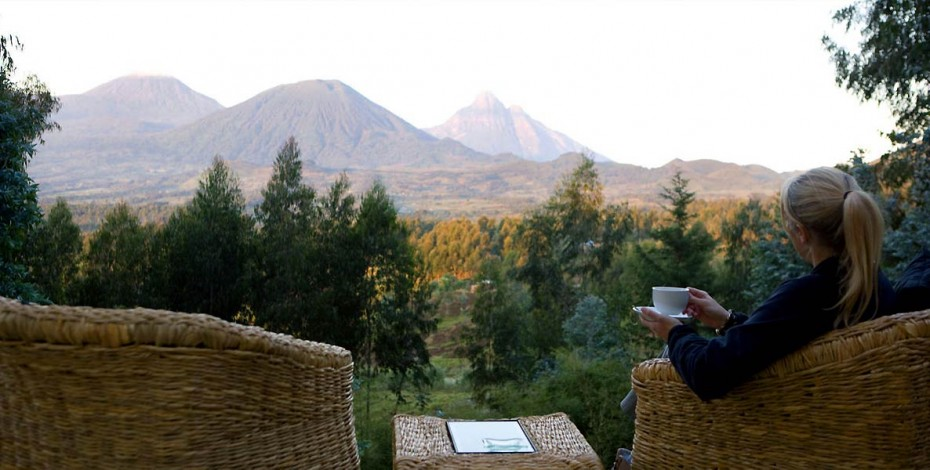 View from Sabyinyo Silverback Lodge