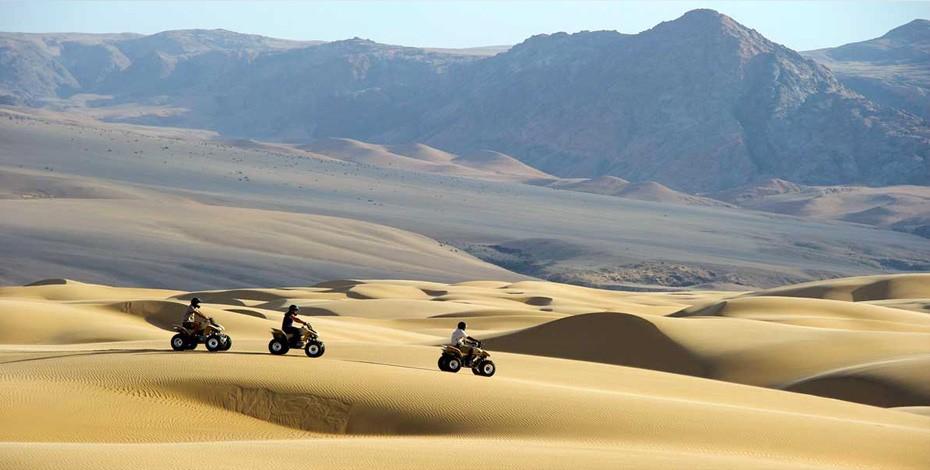 Quad-biking in Namibia's dunes