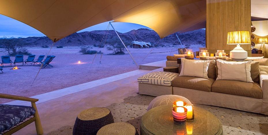 Luxury camp in the Kaokoveld