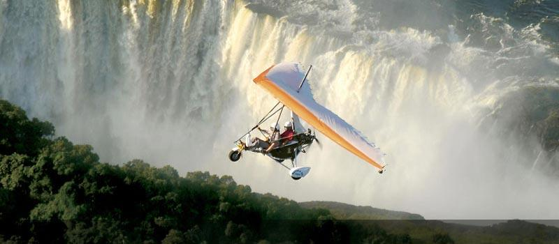 Microlight Flight over Victoria Falls, Zimbabwe
