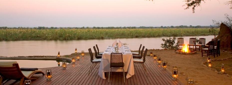 Sunset at Zambezi Kulefu in the Lower Zambezi