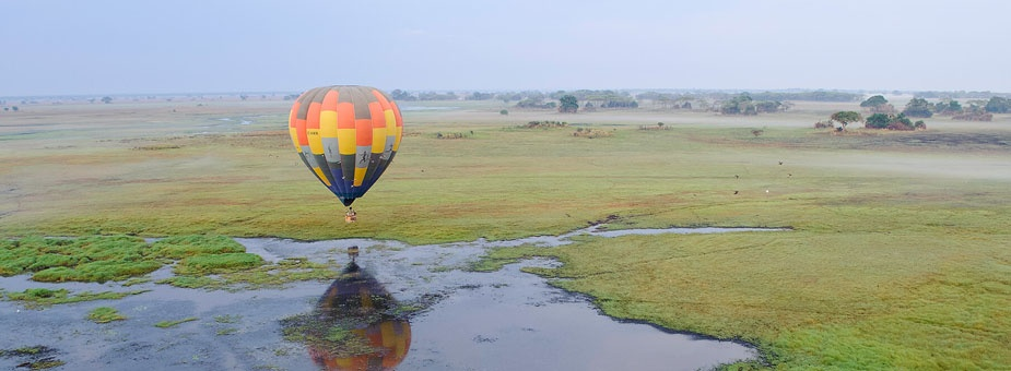 Float over Zambia's Kafue National Park
