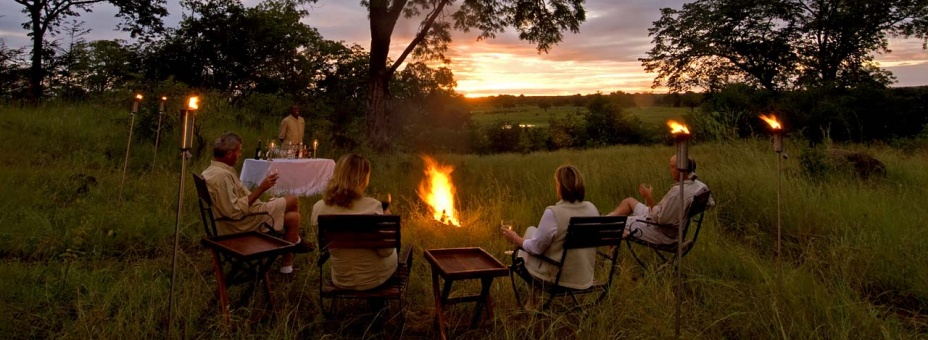 Bush sundowners at Sanctuary Puku Ridge