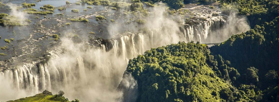 Take to the skies on a scenic flight over Victoria Falls