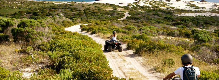 Quad biking at Mosaic Farm Lagoon Lodge