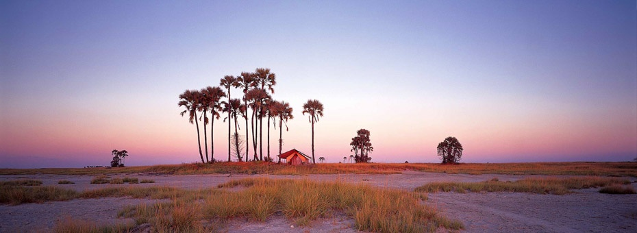 Luxury tented camps in the Makgadikgadi Pans