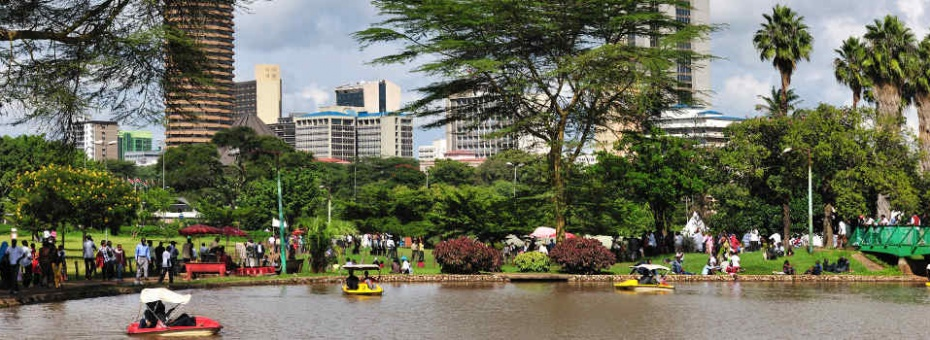 City park in Nairobi, Kenya
