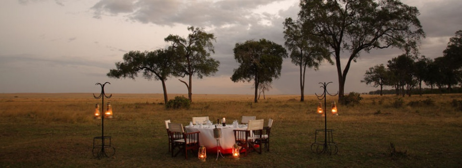 Dining in the Masai Mara at Governors' Camp, Kenya