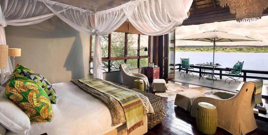View from your villa at Royal Chundu