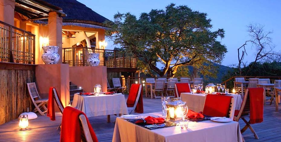 Deck at Thanda Safari Lodge