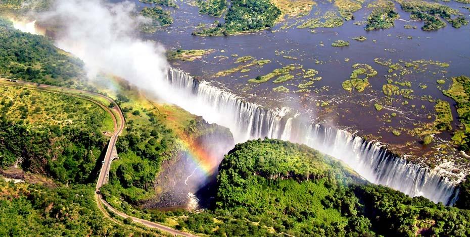 Flight of Angles over Victoria Falls