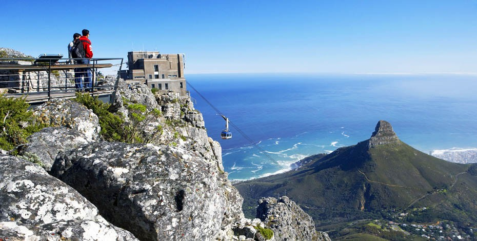 Catch the cable car up Table Mountain