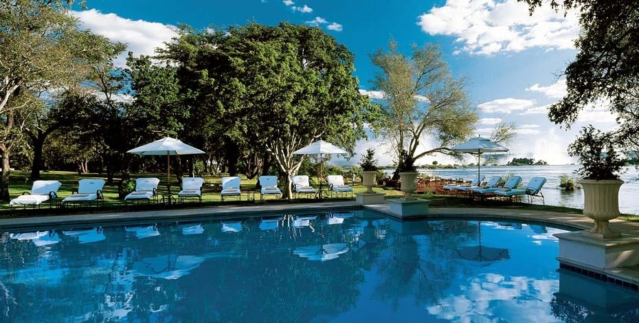 The Royal Livingstone overlooks the Zambezi