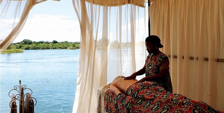 Massage on the bank of the Zambezi River