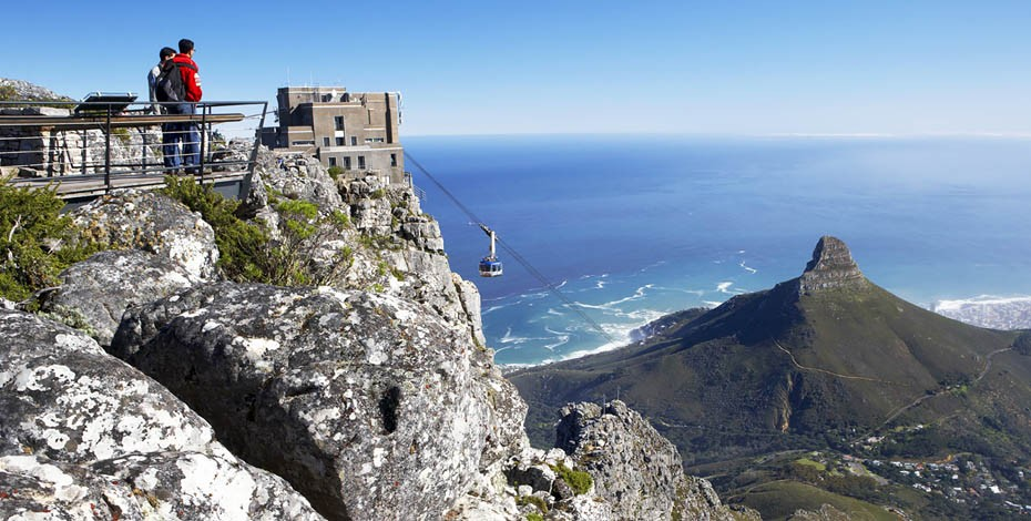 Looking down on Lion's Head, Cape Town