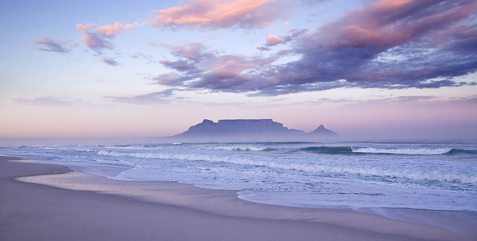 Table Mountain from Blouberg beach