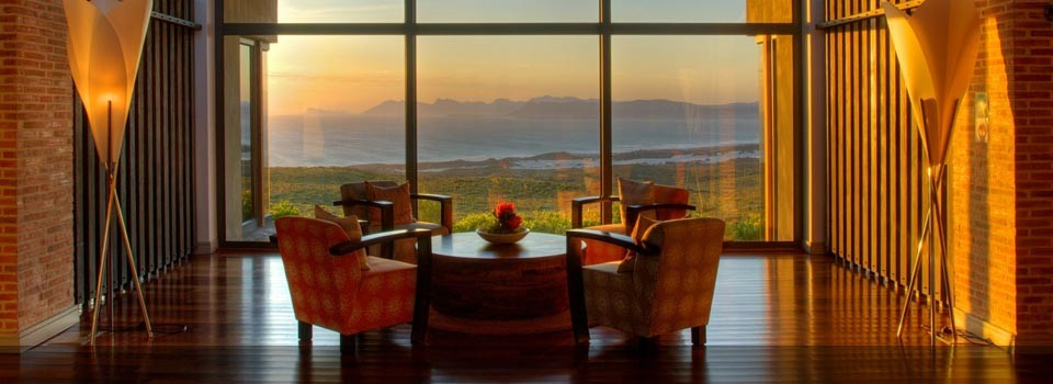 The view from the Lounge at Grootbos Lodge