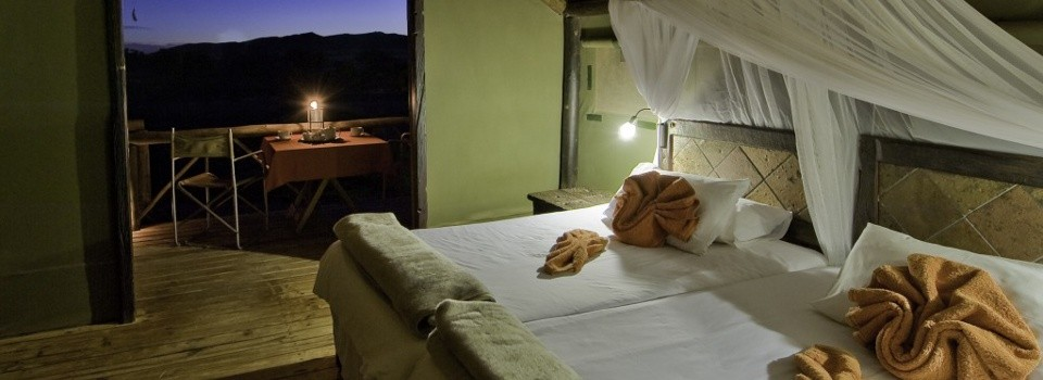 Guestroom at Kulala Desert Lodge