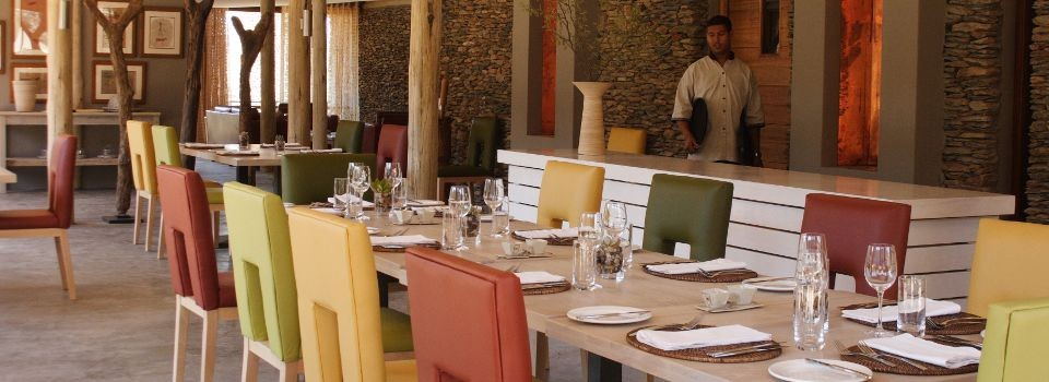 Sanbona Dwyka Lodge dining.