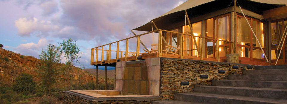 Guest suite at Sanbona Dwyka Lodge