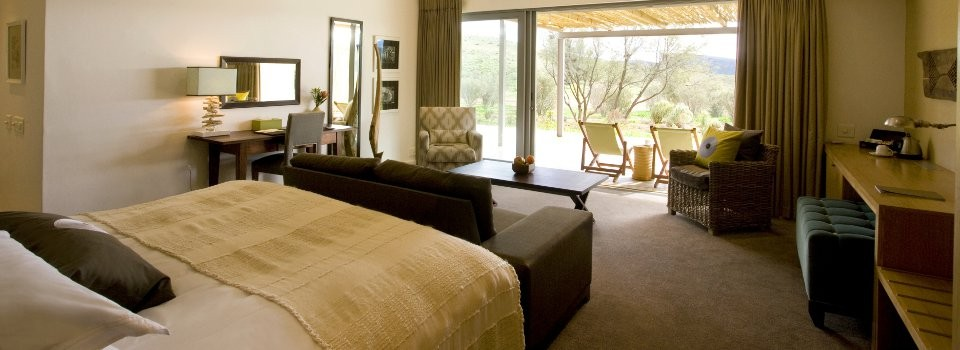 Guest room at Sanbona Gondwana Lodge
