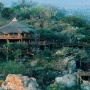 Aerial view of Ulusaba Rock Lodge in the Sabi Sand Reserve