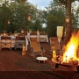 Outside fireplace at Singita Lebombo Lodge