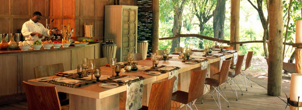 Inter-active kitchen at Lake Manyara Tree Lodge, Tanzania