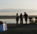 Sundowners on a Luxury Private Camping holiday with Sanctuary