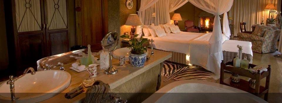The world class accommodation at Camp jabulani