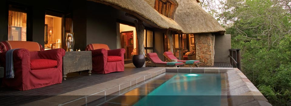 The Lounge at Singita Ebony Lodge