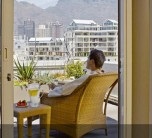 Enjoying breakfast while taking in the view of Table Mountain